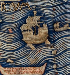 Detail of Chinese Ship by Fra Mauro, public domain