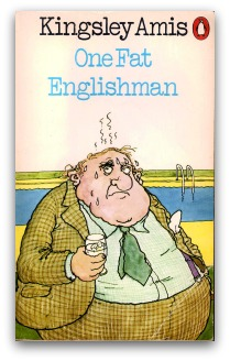 Penguin paperback edition of One Fat Englishman, illustration by Arthur Robins