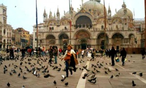 Pizza San Marco, Venice Italy. Photo credit: Belu