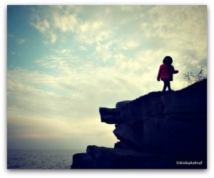 Daughterwalkingoncliff
