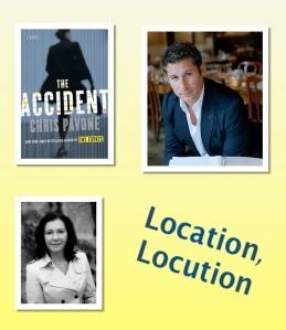 "Cover art ""The Accident; Author photo Chris Pavone; Author photo JJ Marsh"