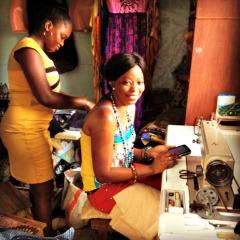 Tailors Penda and Adji at work in Dakar