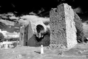 Church ruins in Laois; photo credit: Ed Mooney.