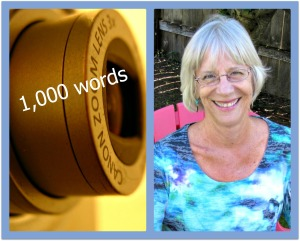Canon zoom lens; photo credit: Morguefiles. Rita Gardner at home in California.