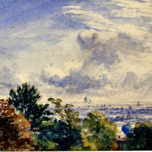 "SEND IN THE CLOUDS: ""London from Hampstead Heath,"" by John Constable (British Museum)"