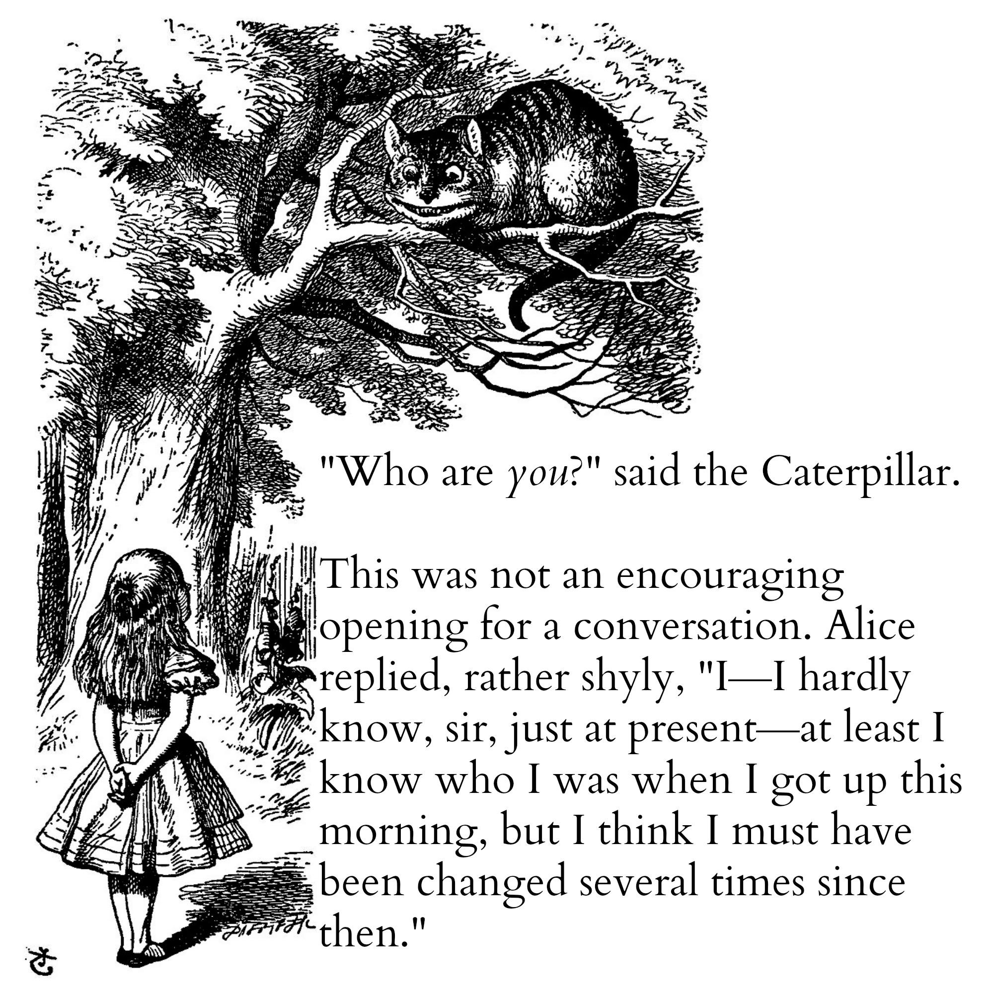 Alice Cheshire Cat Collage