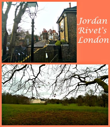 Photo souvenirs from Jordan Rivet's London walks. At bottom: Hampstead Heath with a view of Kenwood House, a former stately home.