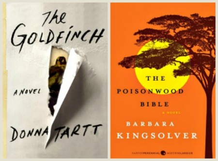 "Books that get ""place"" right: The Goldfinch, by Donna Tartt; and The Poisonwood Bible, by Barbara Kingsolver."