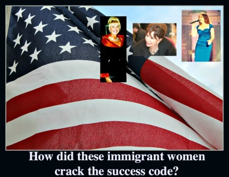 American Flag and immigrant women successes