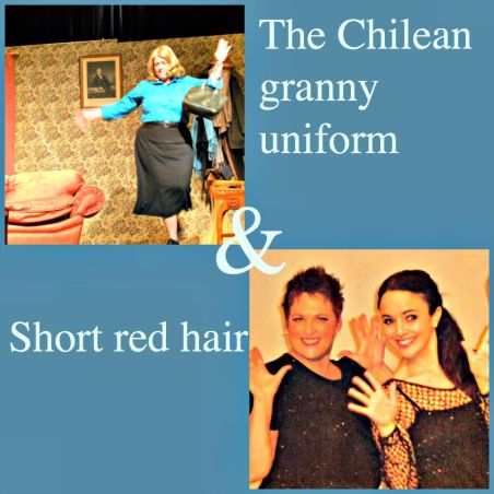 Sally doesn't care what Chileans think of her granny clothes & short red hair. Or does she? (Photos supplied)