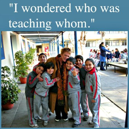 In Santiago, Sally is teacher but above all learner (photo supplied).