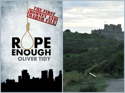 Cover art of Rope Enough, first in police procedural series set in Dover; Dover Castle, by Andrew and Annemarie (CC BY-SA 2.0).
