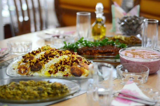 An Iranian feast. Photo credit: Angela Corrias (supplied).