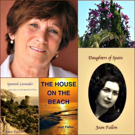 Joan Fallon's writing career has flowered in Benajarafe, initially with books set in the Franco era