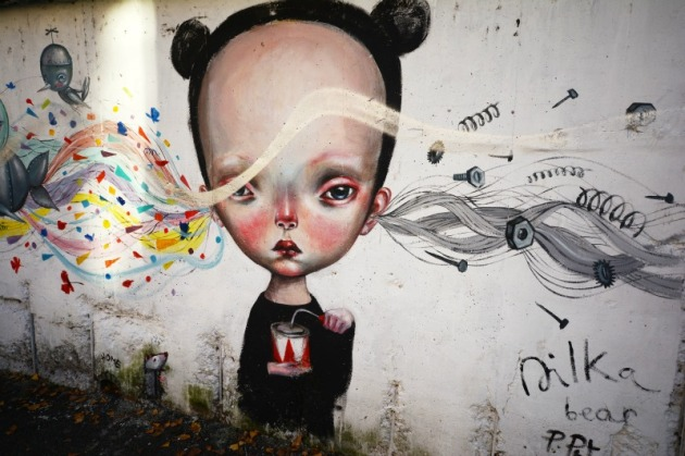 Street art livens up Quadraro, a neighborhood in Rome's southeast periphery. Photo credit: Angela Corrias (supplied).