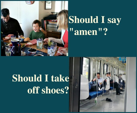 Say amen take off shoes