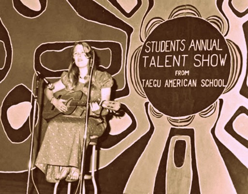Donna Musil, already displaying her talents in Korea, 1975. (Photo supplied.)