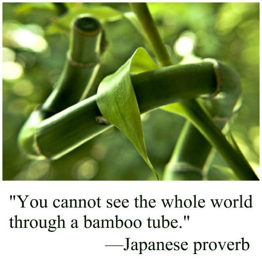 Japanese proverb bamboo tube