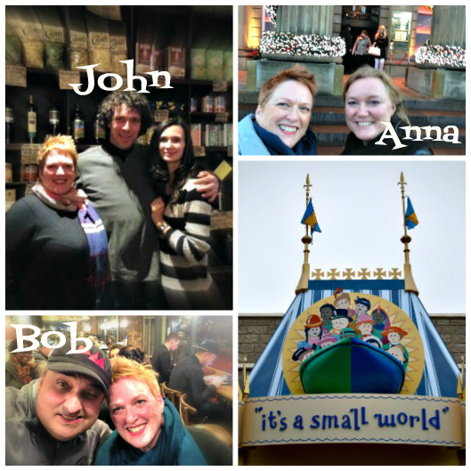 SMALL WORLD: Friends made in one place pop up in another...
