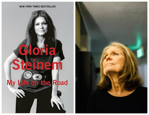 Gloria Steinem portrait and book